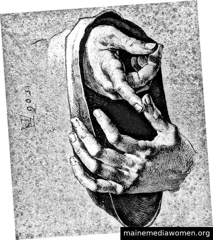 Oberflächenspannung in der Zeichnung von Durer