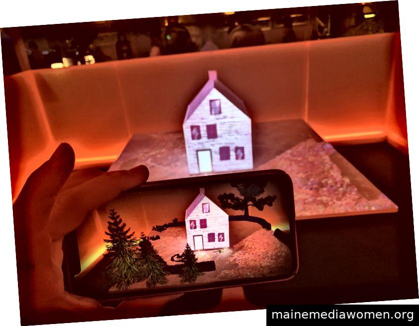 The Dial kombiniert eine Installation mit Mobile AR, sodass Benutzer in einem eigenen Tempo durch ein Mordgeheimnis navigieren können. Foto von Jessica Clark