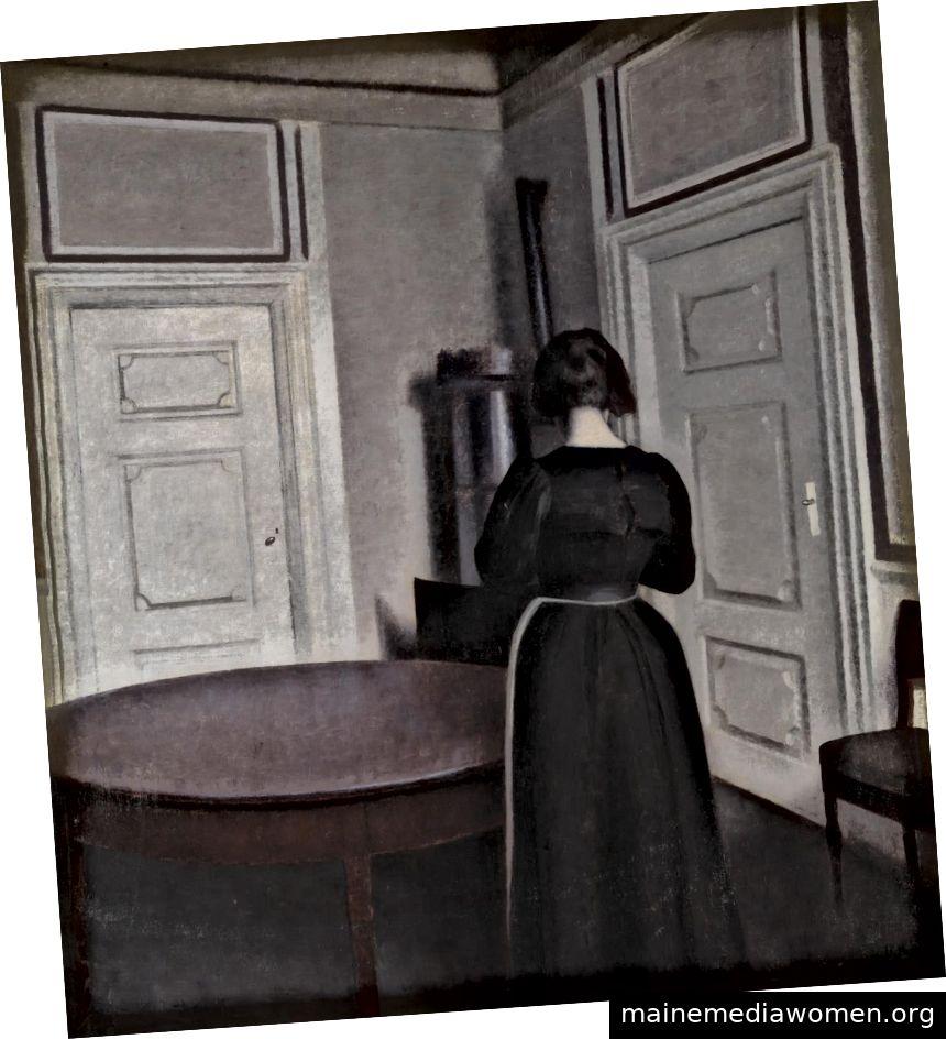 """Vilhelm Hammershøi, """"Interior"""", 1899, Tate Collection, Bild unter Creative Commons veröffentlicht"""