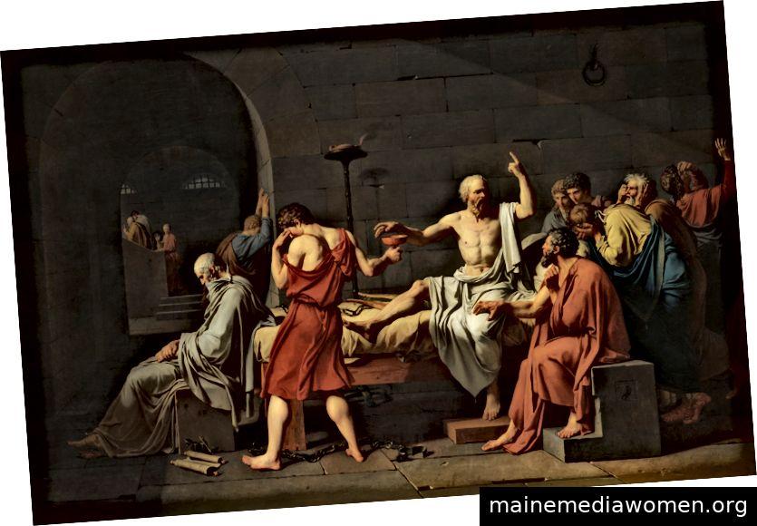 Tod von Sokrates, von Jacques-Louis David