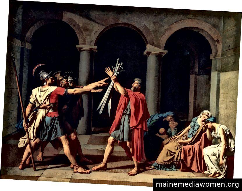 Der Eid der Horati, von Jacques-Louis David