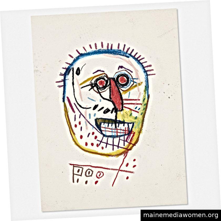 Untitled (Poo) von Jean-Michel Basquiat aus der Sammlung von Glenn Williams. Foto von Wright