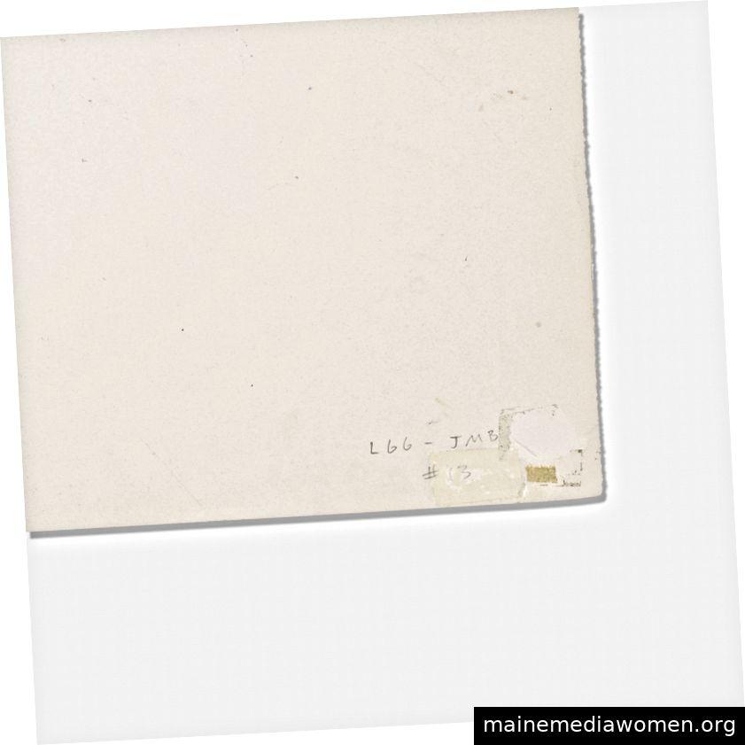 Verso of Drawings und ein Detail der Inventarnotation der Gagosian Gallery in der unteren Ecke. Fotos von Wright