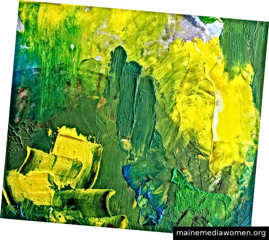 Ausschnitt aus Baum des Lichts, Öl auf Fotodruck (2019)