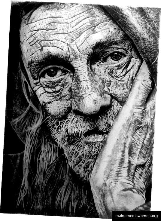 Bleistiftzeichnungen von Franco Clun.