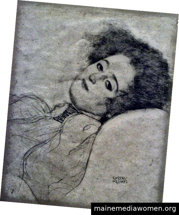 Gustav Klimt - Liegende Frau