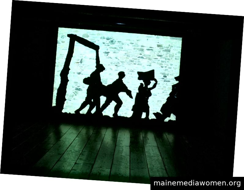 William Kentridge, Schattenumzug (Trickfilm), Monchehaus Museum Goslar (Deutschland)
