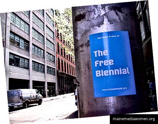 Werbung für The Free Biennial, New York