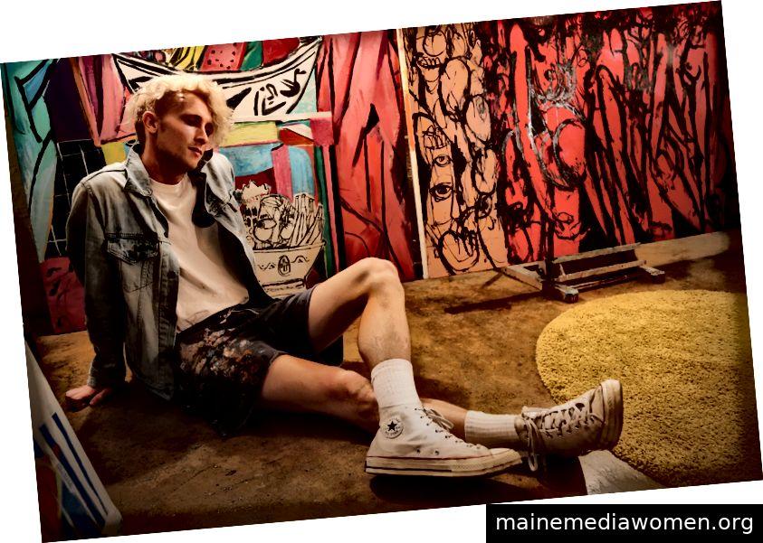 Matthew Brinston in seinem Atelier. (Foto von Lacey Williams McGhee)