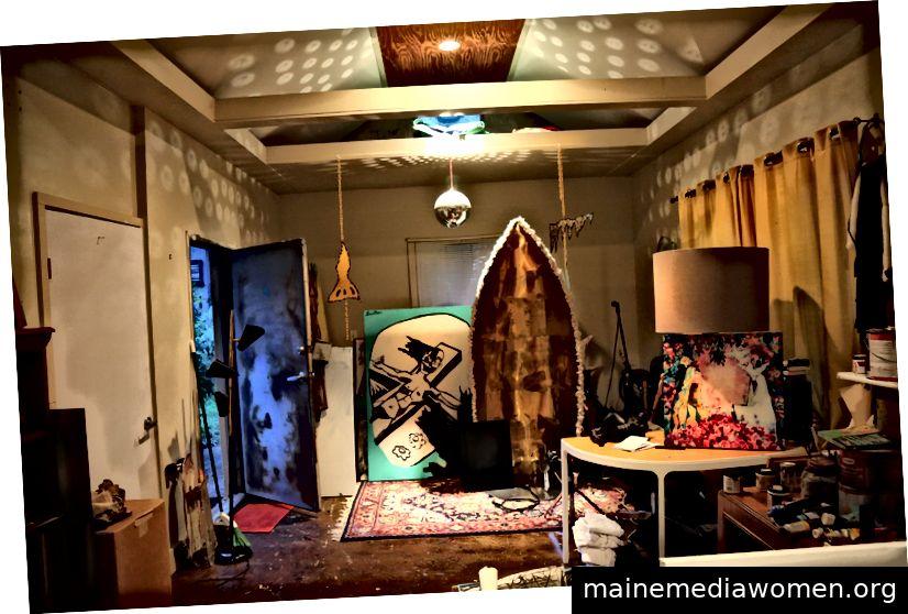 Matthew Brinstons Art Studio in Dallas, Texas. (Foto von Lacey Williams McGhee)