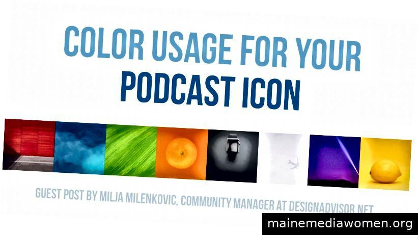 Farbauswahl für Podcast Cover Art kann eine Wissenschaft sein