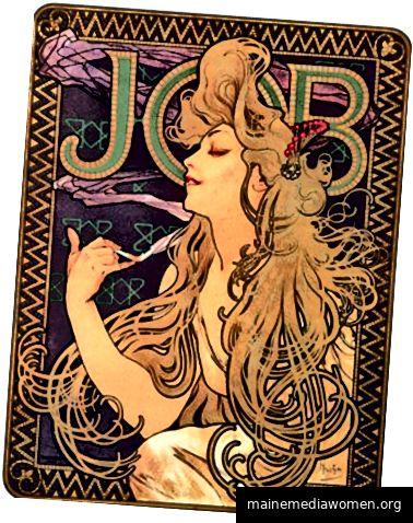 Job-Zigarette Poster von Alphonse Mucha