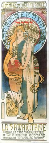 Plakat für La Samaritaine von Alphonse Mucha