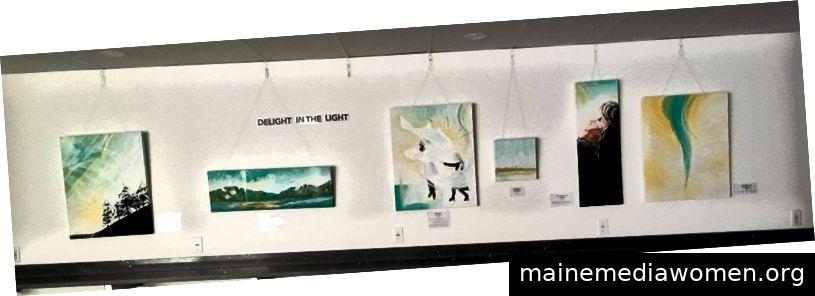 Erfreuen Sie sich an der Light Art Exhibit in der Hillcity Church in Abbotsford, BC
