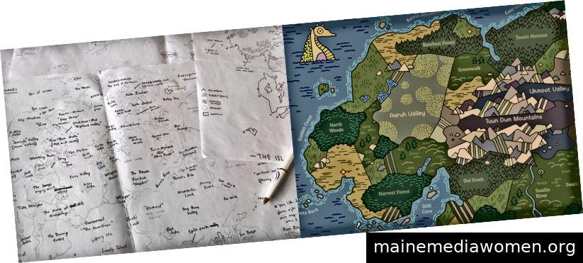 Lageplanung und Detail aus der Karte von Felwild.