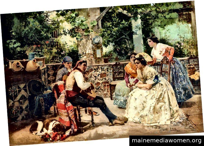 Joaquin Sorolla y Bastida - Gitarrenspieler, Valencia, 1889.