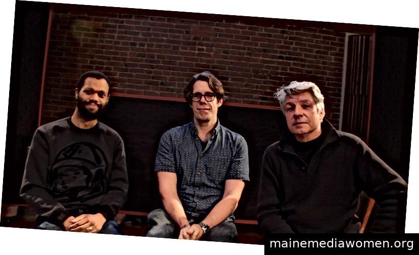 David, Brendan und Jim, Schöpfer des Kulturfestivals und der Konferenz