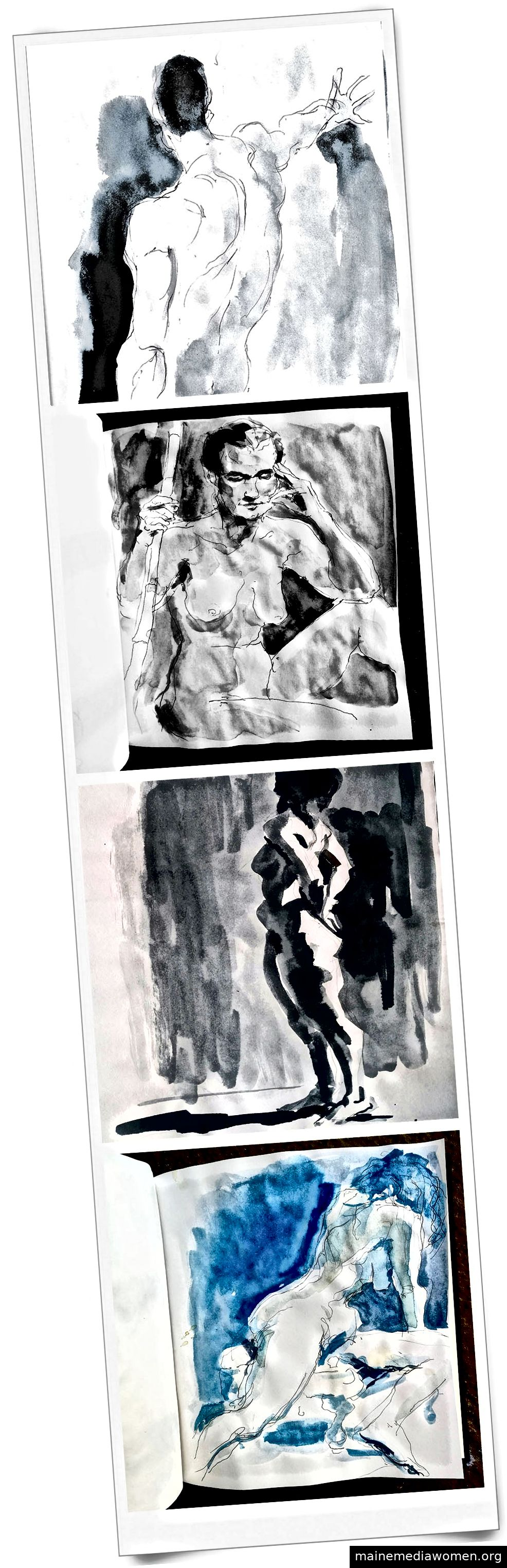 Tim McCormack: Bottom Figure - Tinten- und Kaffeewäsche