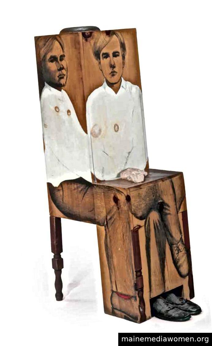 Andy von Marisol 1962–1963 Graphit, Öl und Gips auf Holz, Andy Warhols Schuhe 56½ x 17¼ x 22½ Zoll