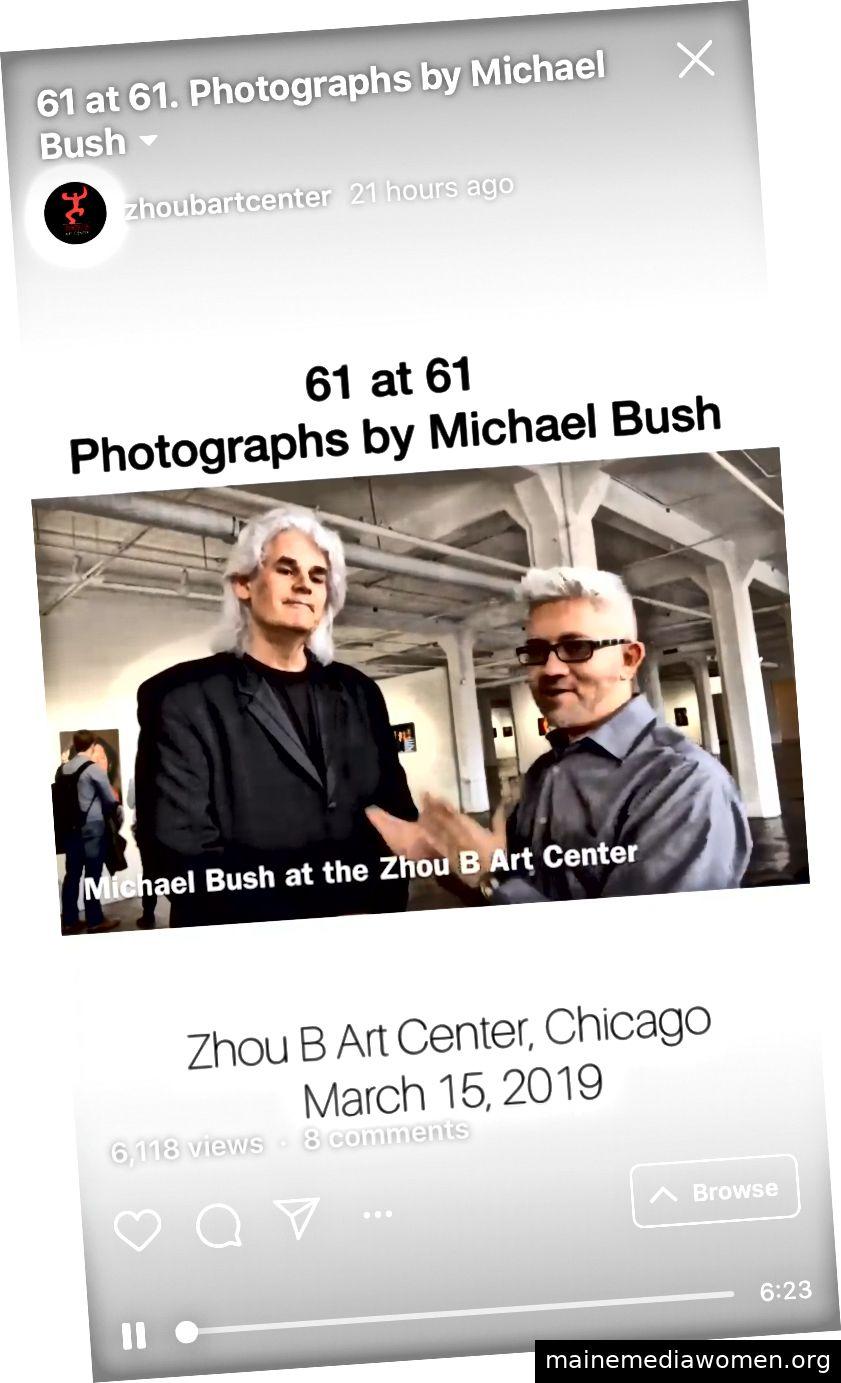 Beispiel für ein Interview von Sergio Gomez mit einem Künstler im Zhou B Art Center in Chicago