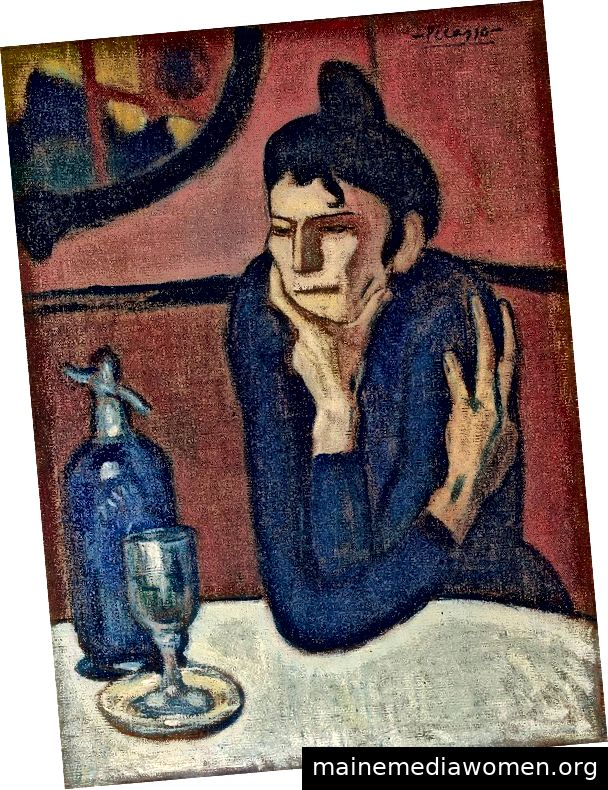Pablo Picasso, Frau im Café (Absinthtrinker)