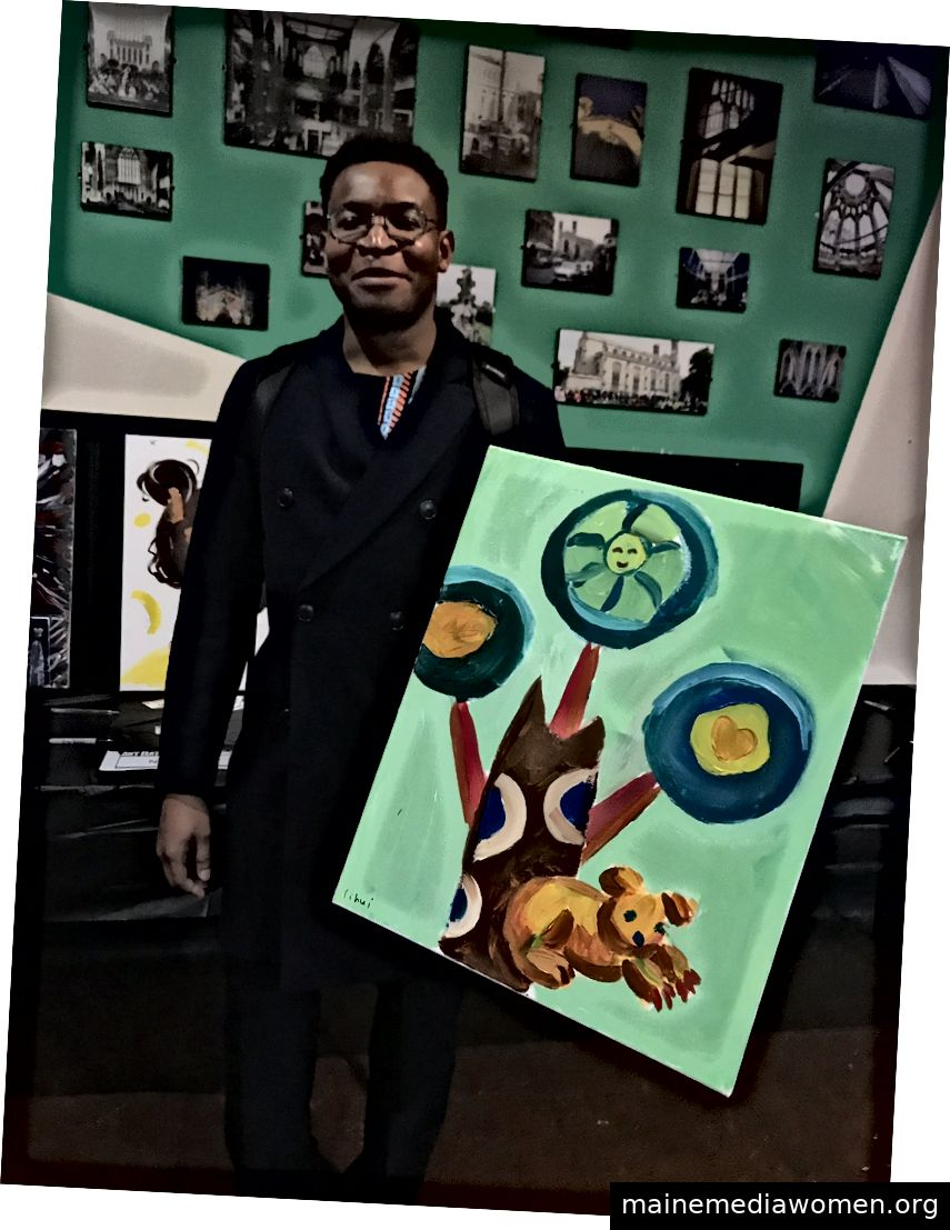 Dieser Typ gewann die Auktion meines Gemäldes.