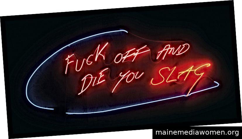 Tracey Emin (geb. 1963) FUCK OFF UND DIE YOU YOU SLAG (2002) verkauft für 116.200 USD. Christie's Images Ltd 2019