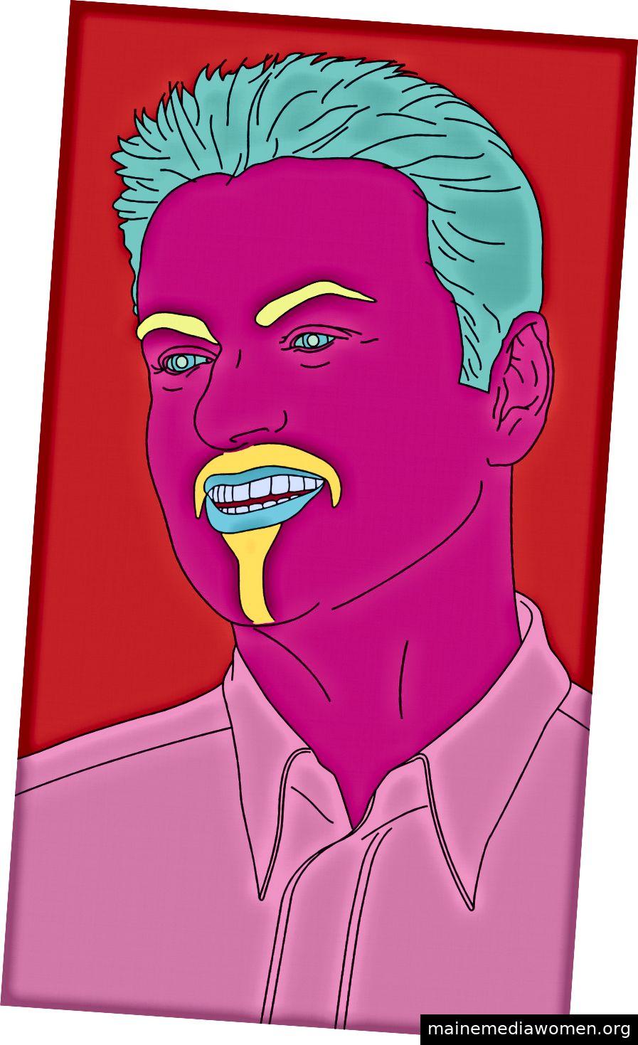 Michael Craig-Martin (geb. 1941) beauftragte Portrait Untitled (George) (2007) für 240.975 $ und setzte damit einen neuen Rekord für den Künstler. Christie's Images Ltd 2019