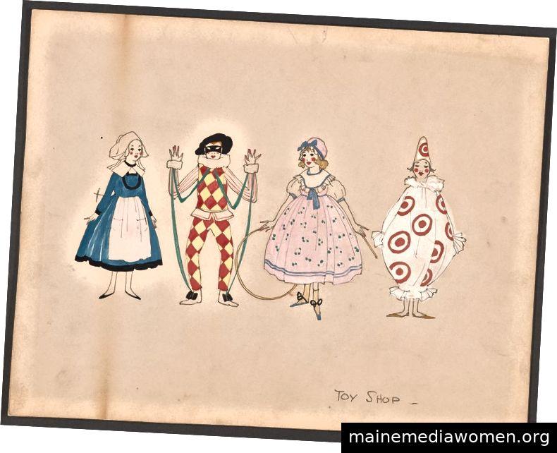 Kostüm-Illustrationen aus der New York Public Library