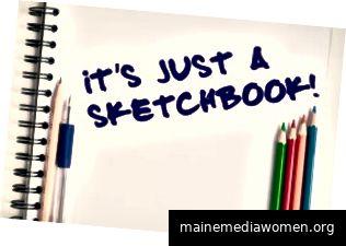 Skizzenbücher dienen zum Üben oder zum Ausarbeiten von Ideen, sogar zum Erstellen von Notizen. (Bildnachweis: 123RF.com Copyright: Panudda Nopboonchollatee)