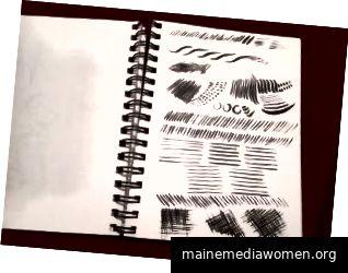 Wer sagt, dass Sie mit einer Skizze beginnen müssen ... oder sogar mit der ersten Seite beginnen? (Bildnachweis: Myra Naito)