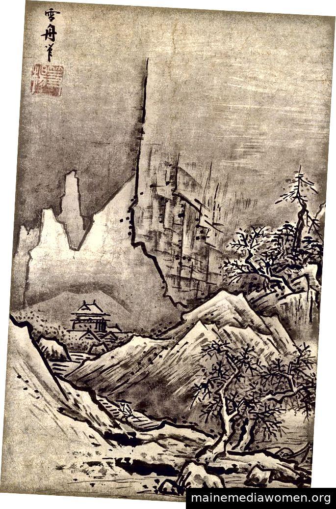 Herbst- und Winterlandschaften von Sesshū Tōyō (ca. 1500) - derzeit im Nationalmuseum Tokio