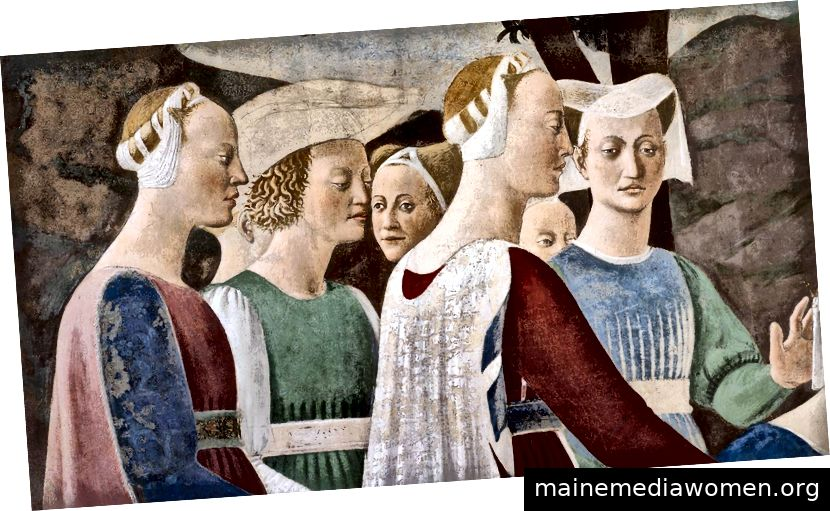 """Piero Della Francesca, """"Legende vom wahren Kreuz"""" (Detail), Fresko"""