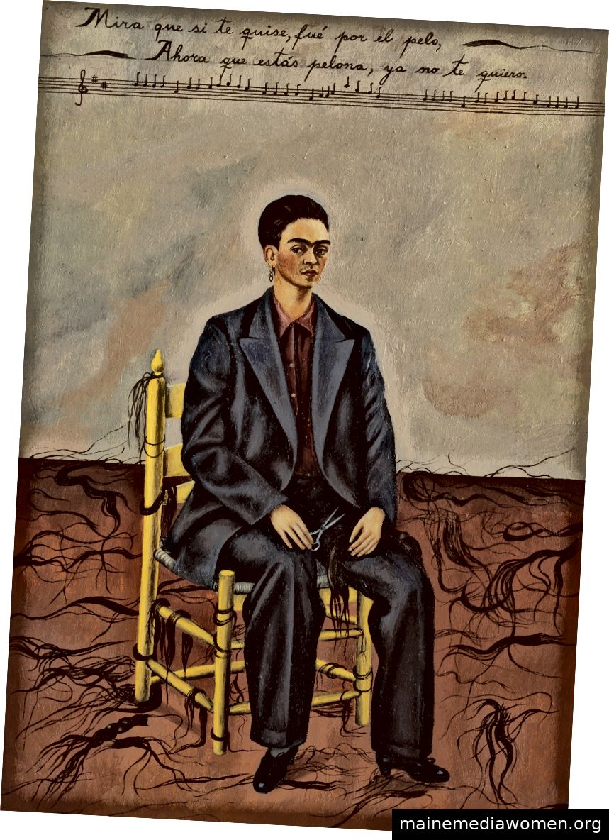 Frida Kahlo | Selbstporträt mit kurz geschorenem Haar 1940
