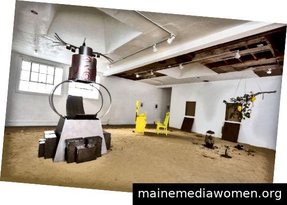 Installationsabbild Foto mit freundlicher Genehmigung der Künstler und des Commonwealth und des Rates, Los Angeles. Foto: Ruben Diaz