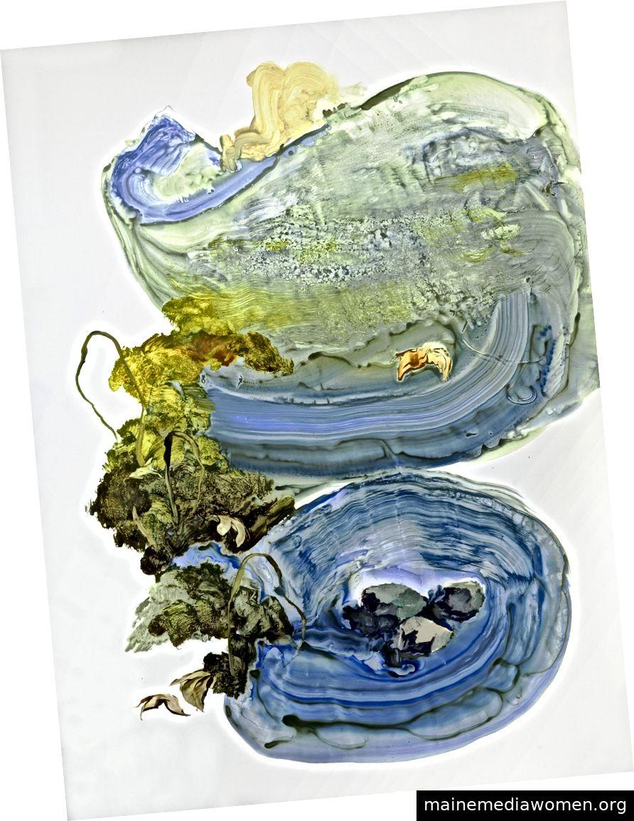 Ilana Manolson, Hunter, 2019, Acryl auf Yupopapier an Bord, 152,5 x 61 cm © der Künstler, mit freundlicher Genehmigung von Cadogan Contemporary