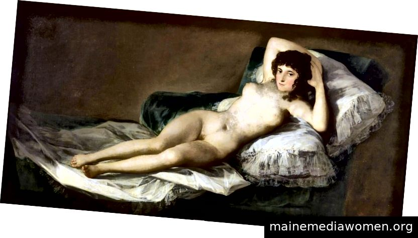 Francisco Goya, Die nackte Maja, Öl auf Leinwand, 38
