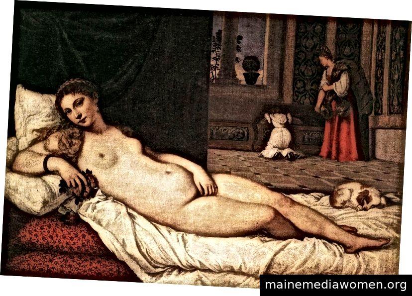 Tizian, Venus von Urbino, Öl auf Leinwand, 47