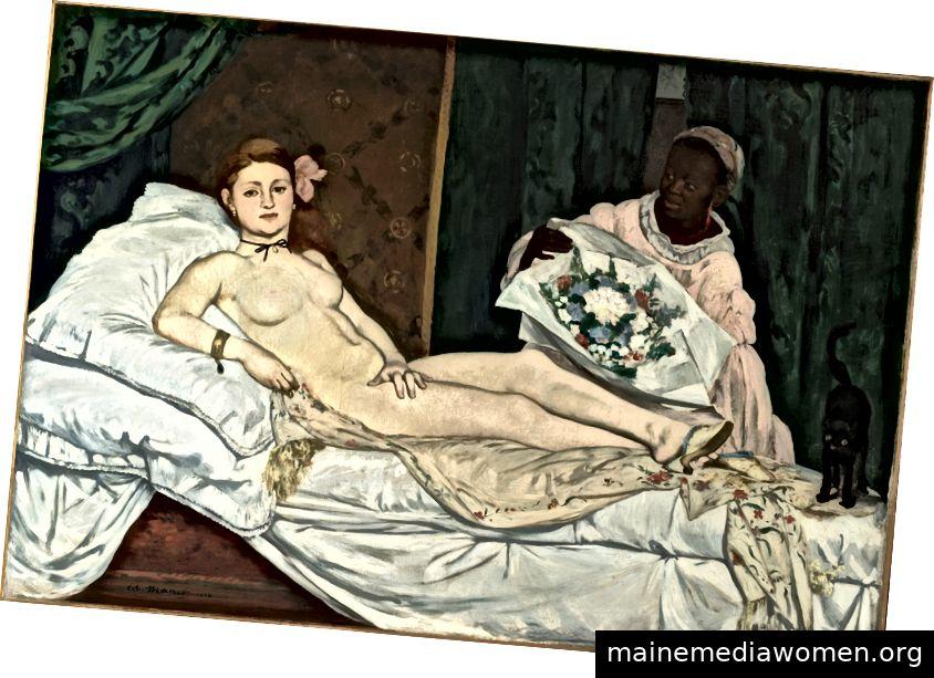 Édouard Manet, Olympia, Öl auf Leinwand, 51