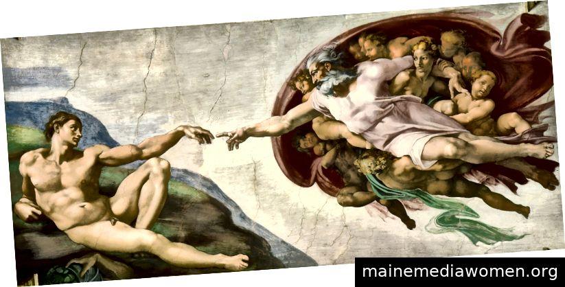 Michelangelo, Sixtinische Decke (Detail), Fresko, 1512