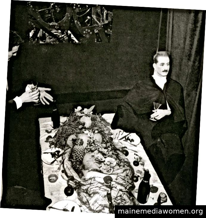 Meret Oppenheim, Kannibalenfest, Aufführung, 1959