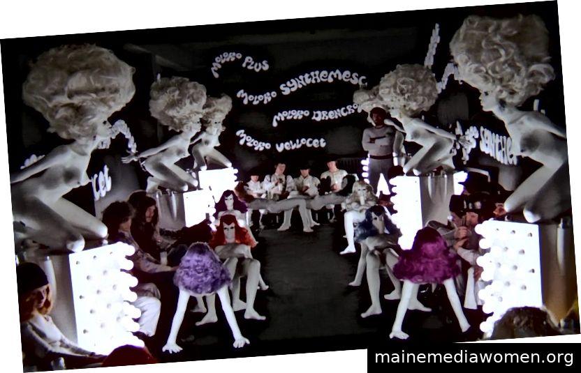 Stanley Kubrick, Regisseur, John Barry, Produktionsdesigner, Liz Moore, Bildhauer, A Clockwork Orange, Spielfilm, 1971
