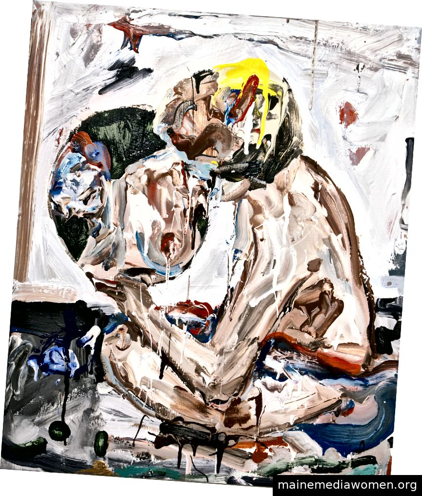 John Copeland, Good Morning, 2010, Acryl auf Leinwand, 24 1/8 x 19 7/8 Zoll © der Künstler, Courtesy Huxley-Parlor Gallery