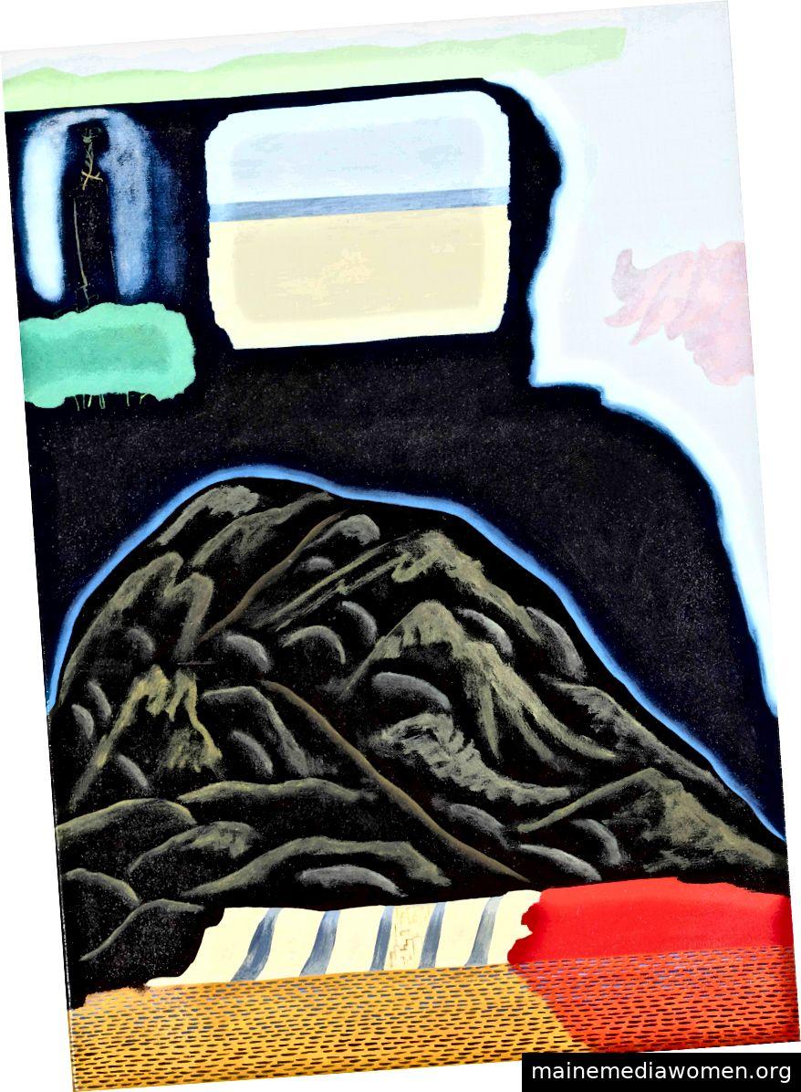 Karishma D'Souza, Hill Crossing, 2015, Öl auf Leinwand, 25 x 17 © Zoll © der Künstler, Courtesy Huxley-Parlor Gallery und Xippas Gallery