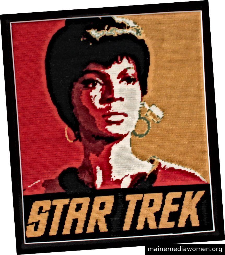 Nadelspitze von Lt. Uhura von Star Trek, entworfen und erstellt vom Autor