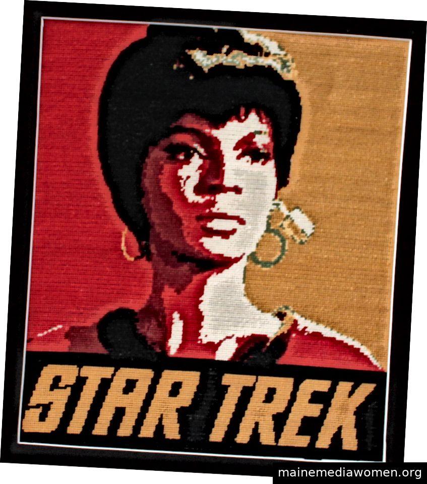 Nadelspitze von Lt. Uhura von Star Trek, entworfen und hergestellt vom Autor