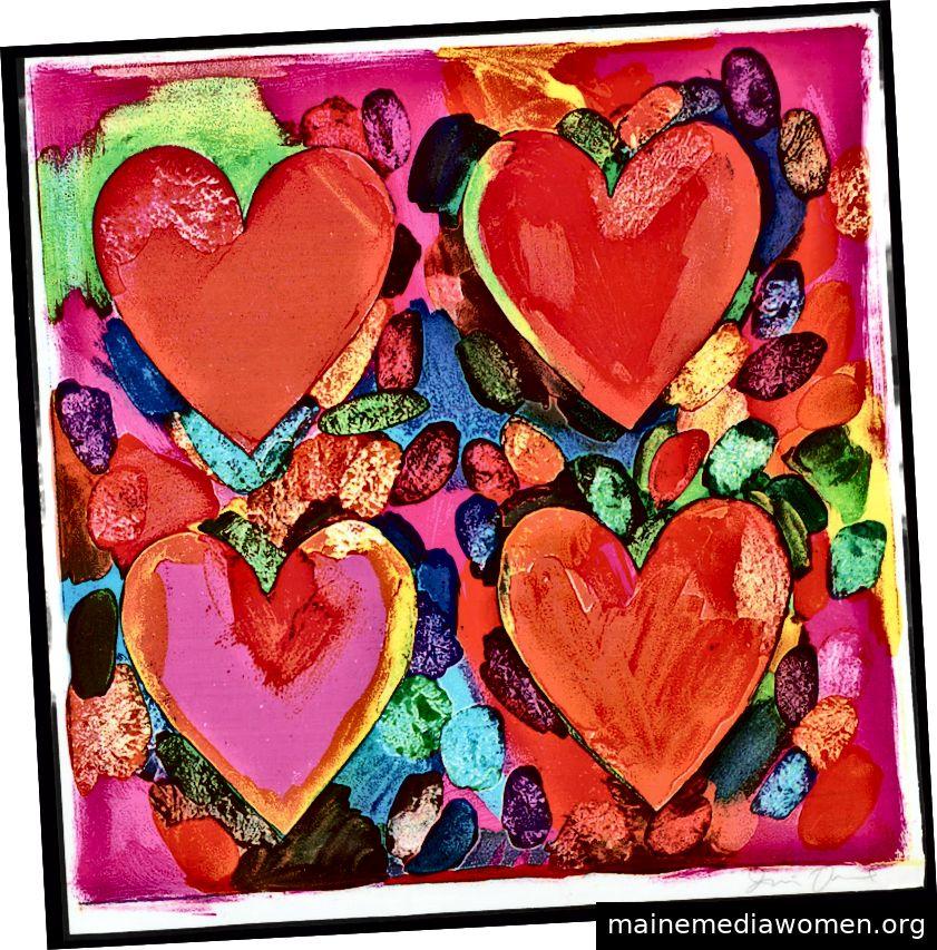 Vier Herzen, Jim Dine, 1969, Tate