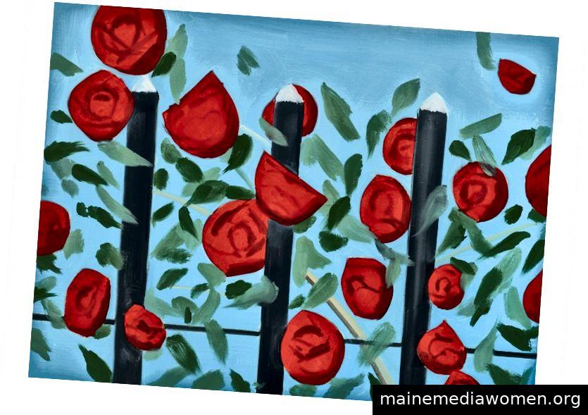 Rote Rosen mit Blau, Alex Katz, sothebys.com