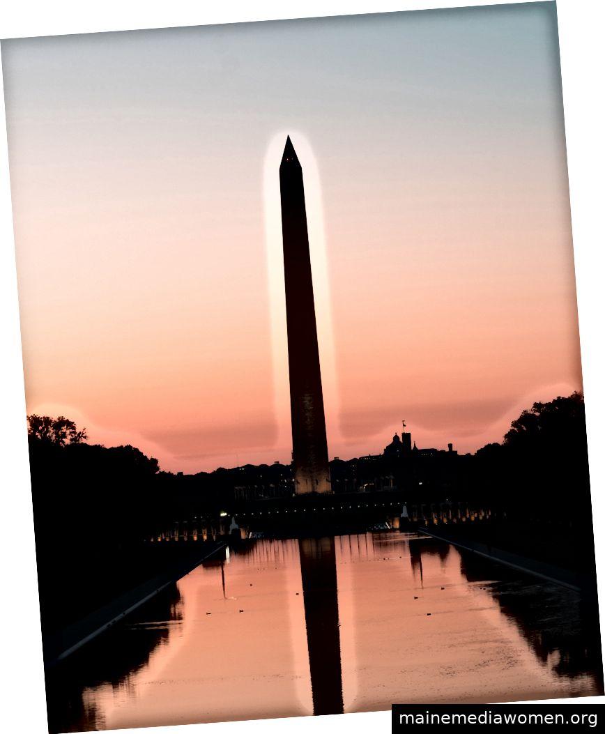 Das Washington Monument ist ein Obelisk in der National Mall in Washington, DC, gebaut zum Gedenken an George Washington, einst Oberbefehlshaber der Kontinentalarmee und erster Präsident der USA.