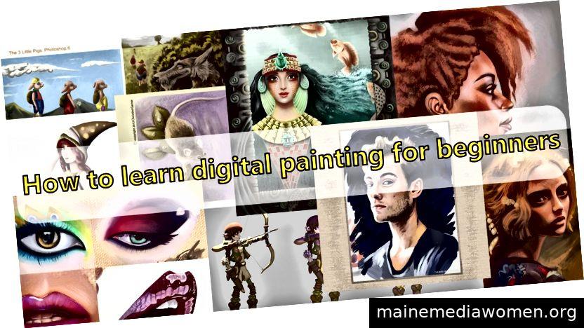 Einige meiner digitalen Malereiarbeiten von früher bis später.